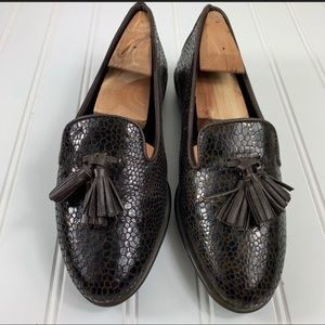 The Flexx Patent Tassel Loafers Browns 6.5